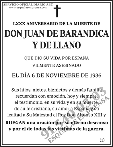 Juan de Barandica y de Llano